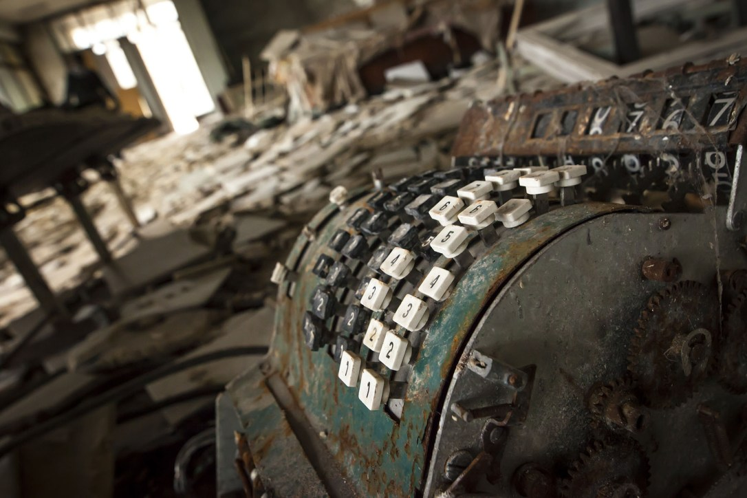 Chernobyl - Cash register in abandoned store