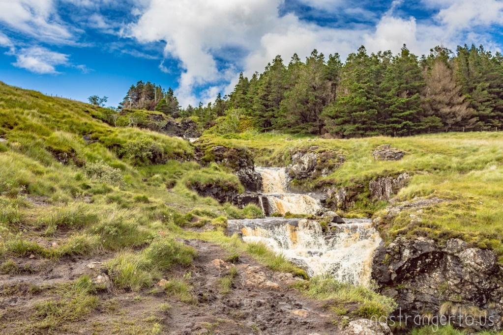 Scottish Waterfall cascade
