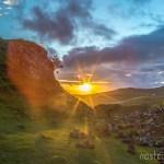 Sunset in the Fairy Glen, Isle of Skye, Scotland.
