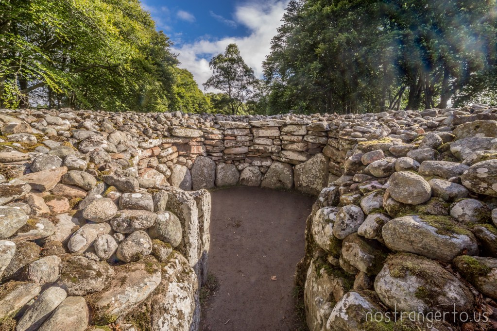 Clava Cairn in the Scottish Highlands.