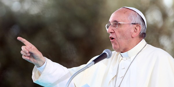 POPE FRANCIS call for an end to discrimination and violence