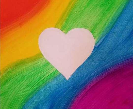 same-sex love flag