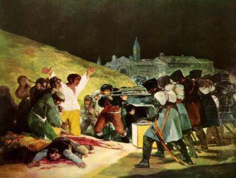 Francisco Goya, Tres de Mayo, huile sur toile, 268x347 cm, 1814, musée du Prado, Madrid