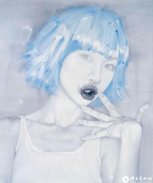 Lip language n°2, huile sur toile, 180x150cm, 2010