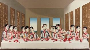 The Last Supper, huile sur toile, 200x400 cm, 2001