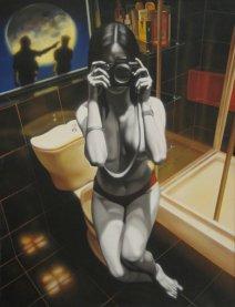Dark Lens, huile sur toile, 2002