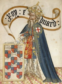 Le roi Édouard III, Bruges Garter Book, v. 1430/1440 – © British Library, London