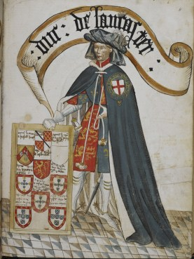 Portrait d'Henry de Grosmont, Duc de Lancastre, William Bruges's Garter Book, v.1440-1450 - © British Library, London
