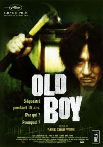 OLD BOY (Park Chan-wook, 2003) - un homme est séquestré pendant 15 ans. Par qui ? Pour quoi ? Il l'ignore. Une fois libéré, il tient à se venger.