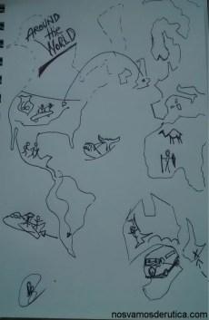boceto vuelta al mundo