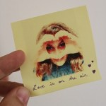 Post-it photo de Saint-Valentin