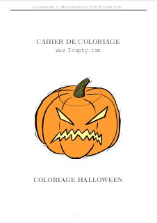 Cahier de coloriages Halloween