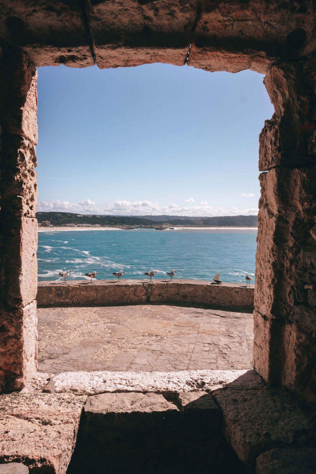 Vistas desde el fuerte a la Praia de Nazaré