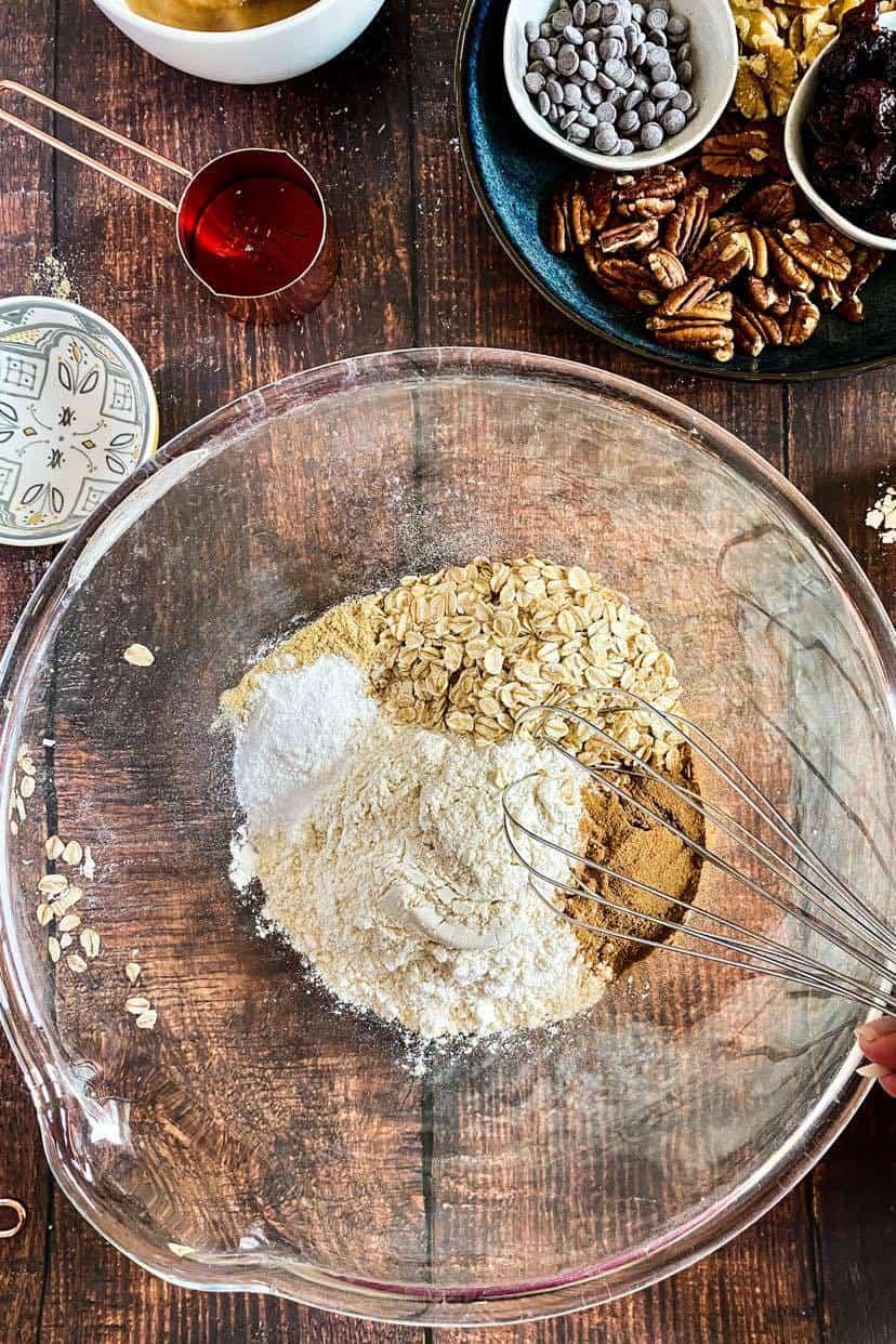 vegan zucchini muffin batter