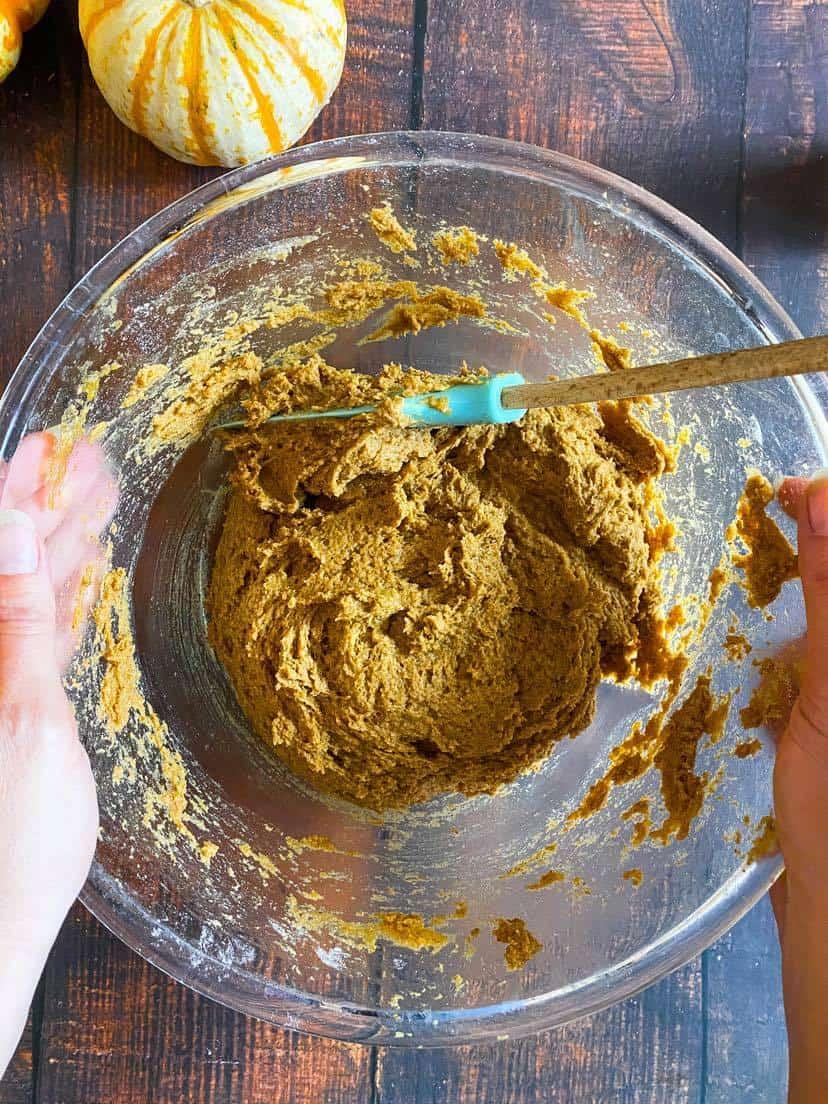 pumpkin cookie batter