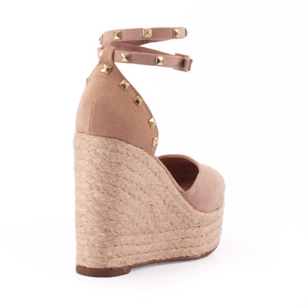 0efffbcd23 Sandália Espadrille Tachas Corda Nude – Not-me Shoes