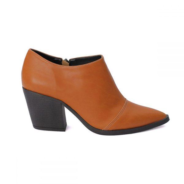 Bota Feminina Ankle Boot Caramelo