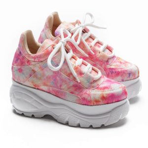 tenis feminino tie dye rosa not-me shoes (3)