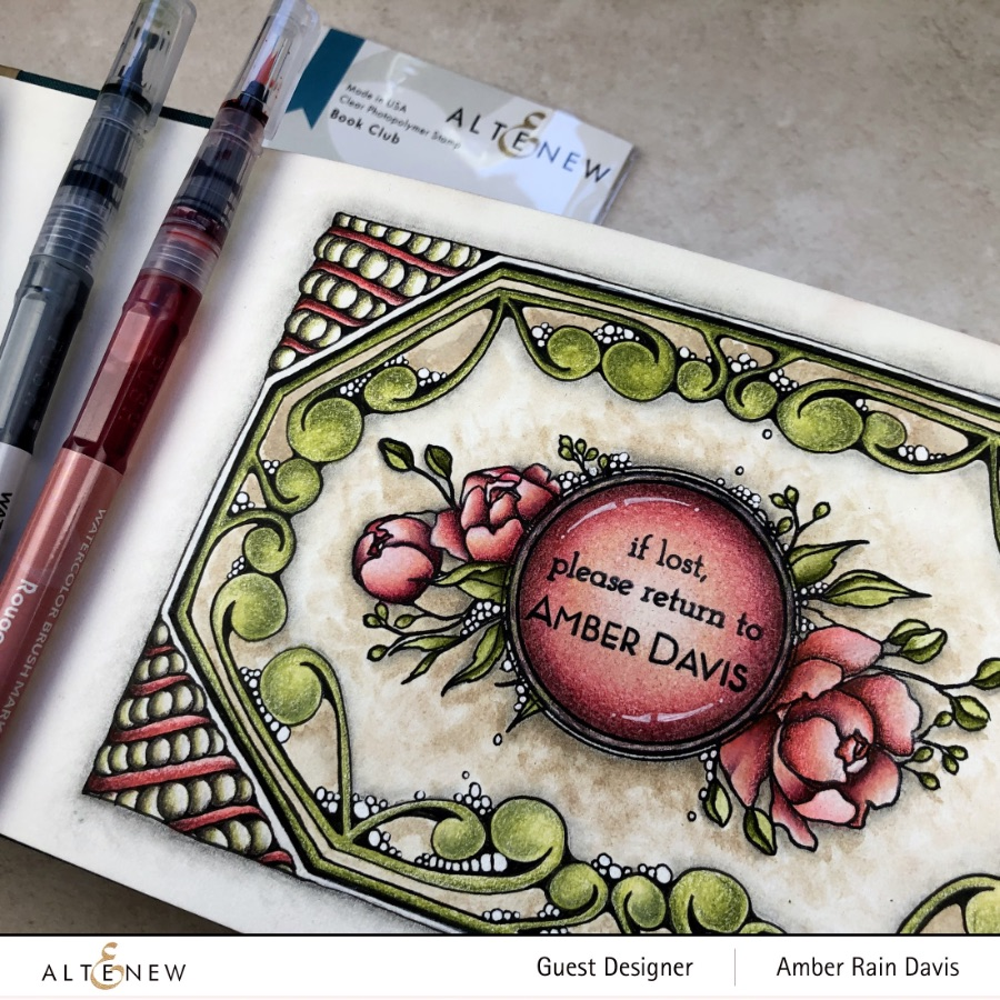 Zen Gem with Altenew Book Club Stamp Set