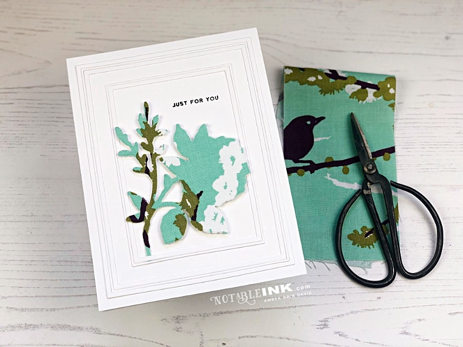 Fabric Die Cuts with Altenew Dainty Bouquet
