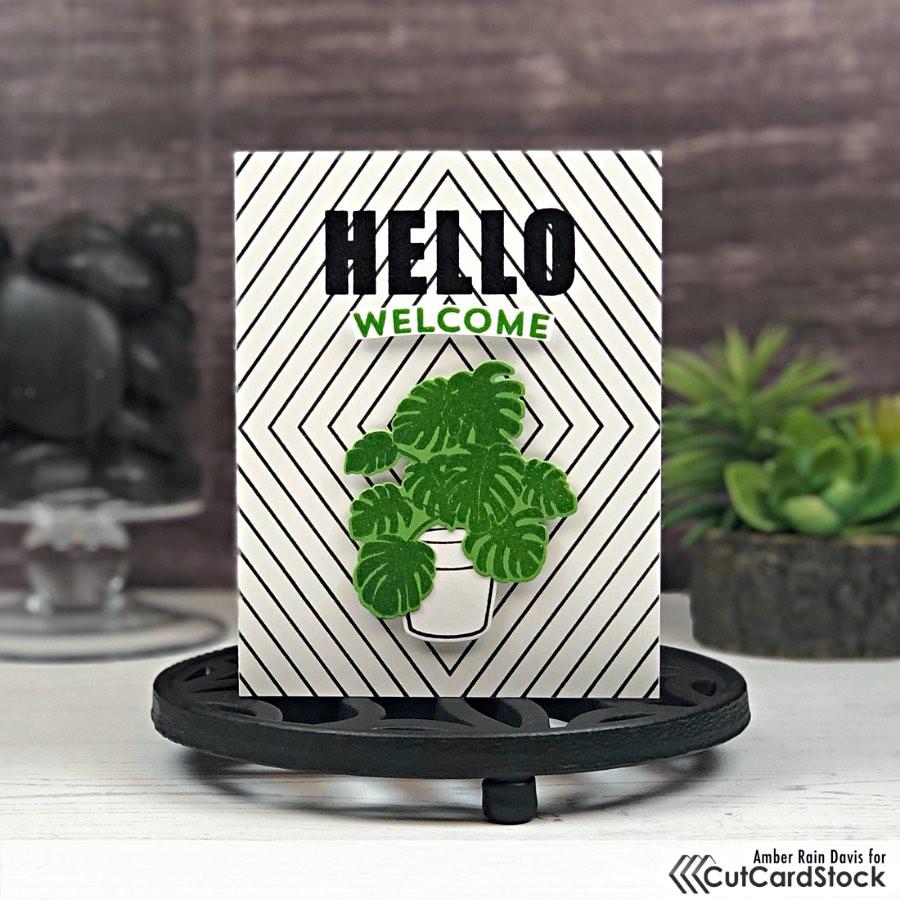 Modern Welcome Card Design