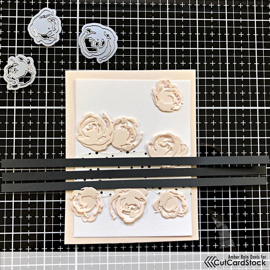Altenew Garden Picks 3D Dies with Coral Curious Metallic Cardstock