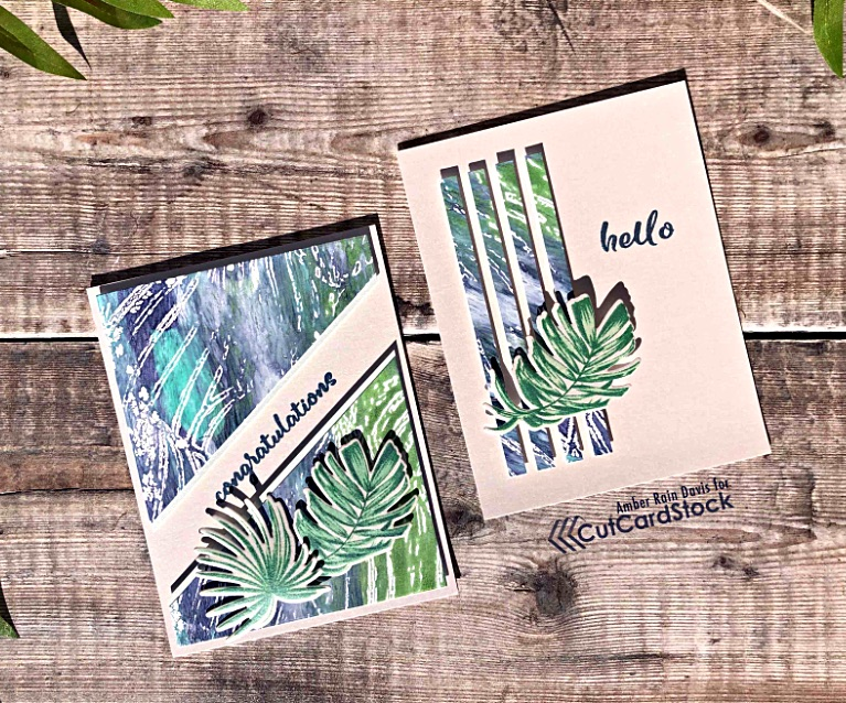 2 Gel Press Cards from 1 Panel