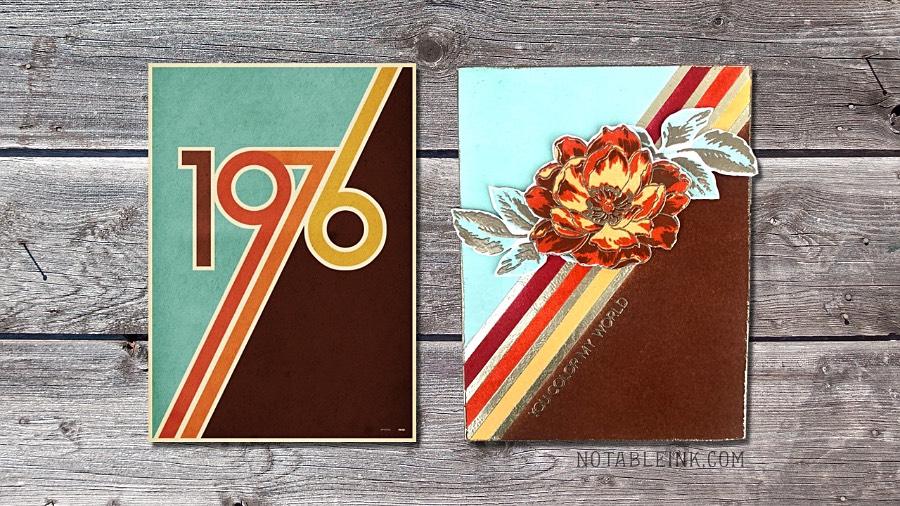 Retro Color Block Card Design with Altenew Beautiful Day
