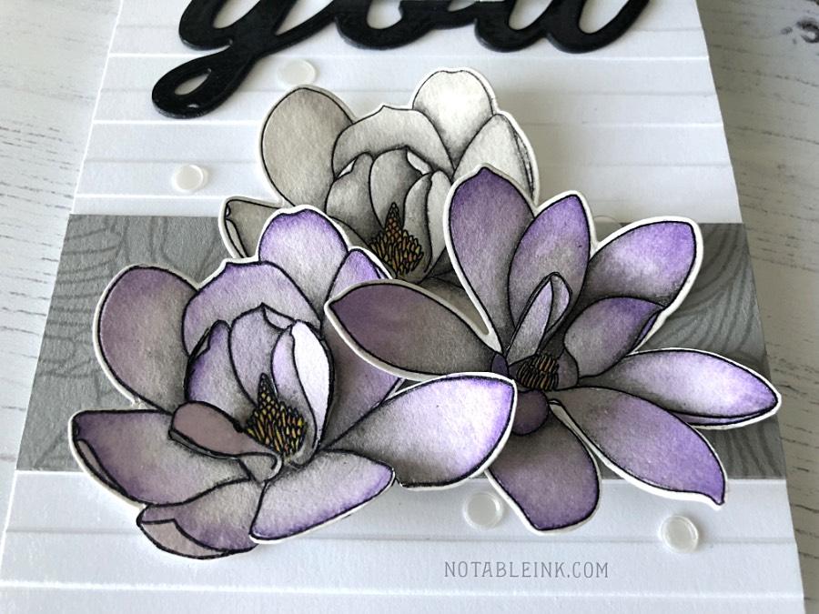 Altenew Magnolias for Her Watercolor Card