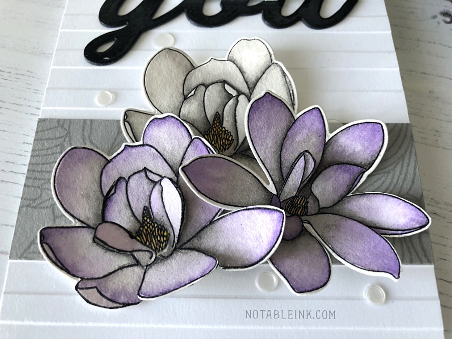 Altenew Magnolias for Her Watercolor Card