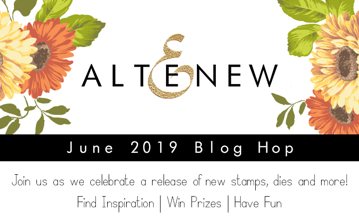 Altenew June 2019 Stamp Die Stencil Release Blog Hop + Giveaway