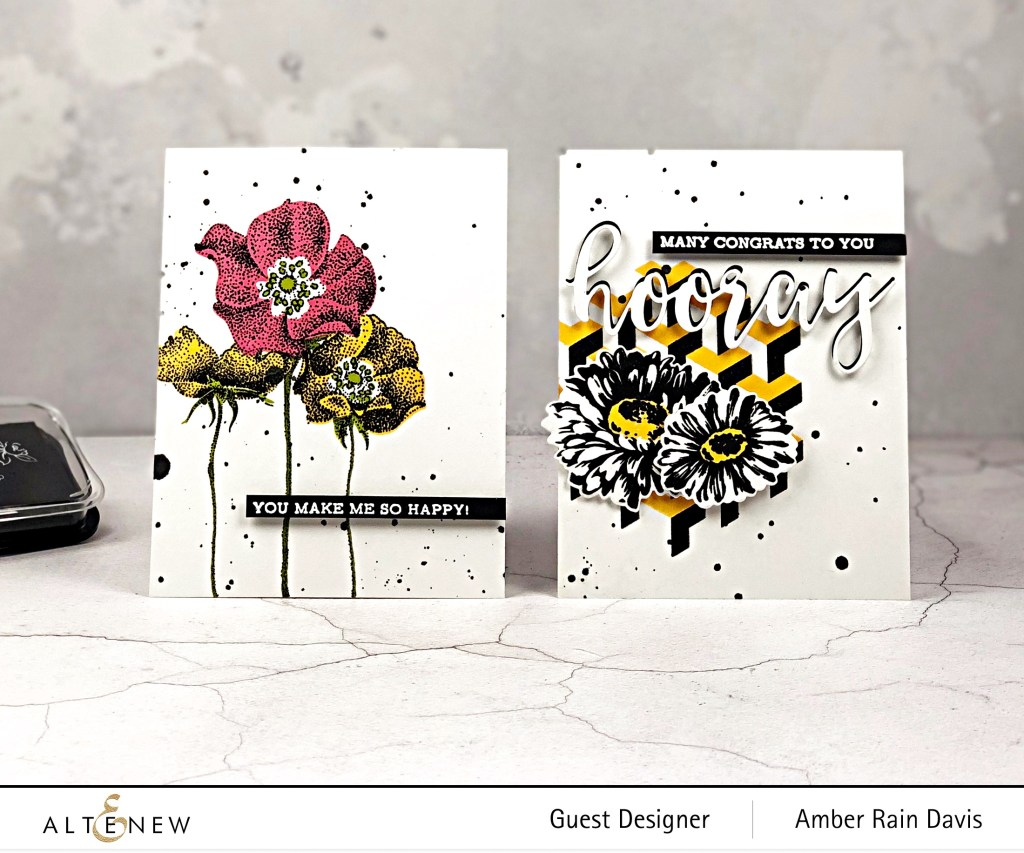 Designing with Black - Altenew June 2019 Stamp/Die/Stencil Release Blog Hop + Giveaway