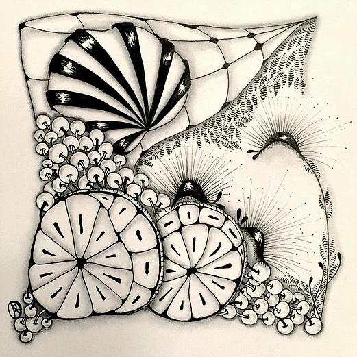 Garlicross Zentangle Pattern