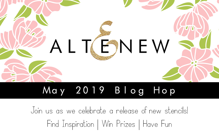Altenew May 2019 Stencil Blog Hop + Giveaway