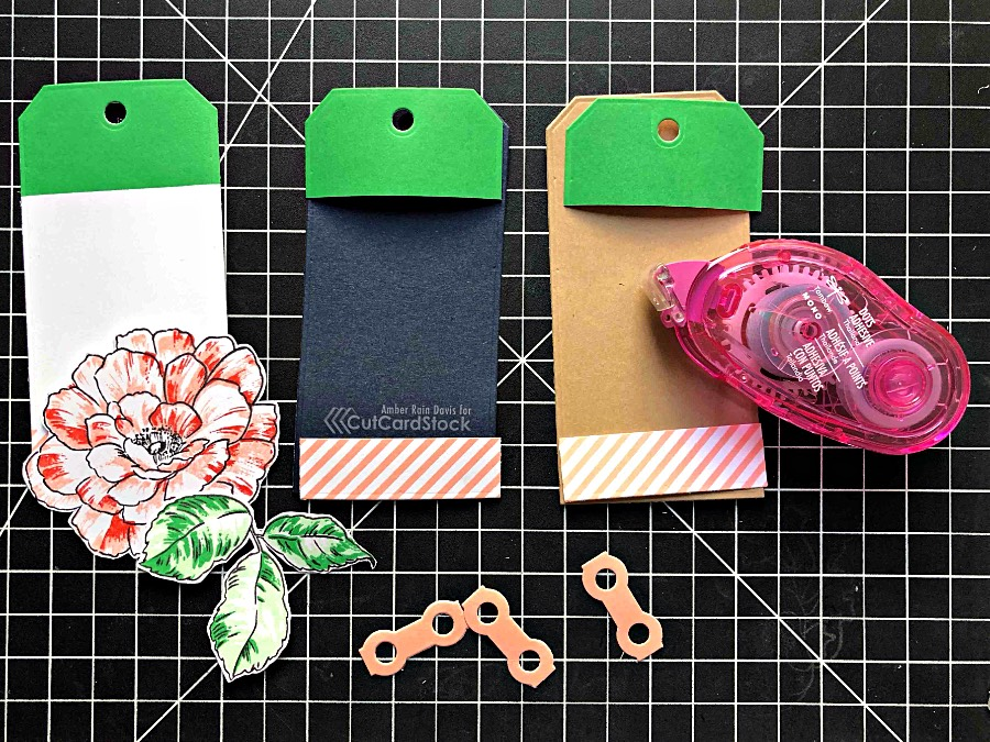 Create tags with leftover die cuts and The Stamp Market Tag'd Die Set