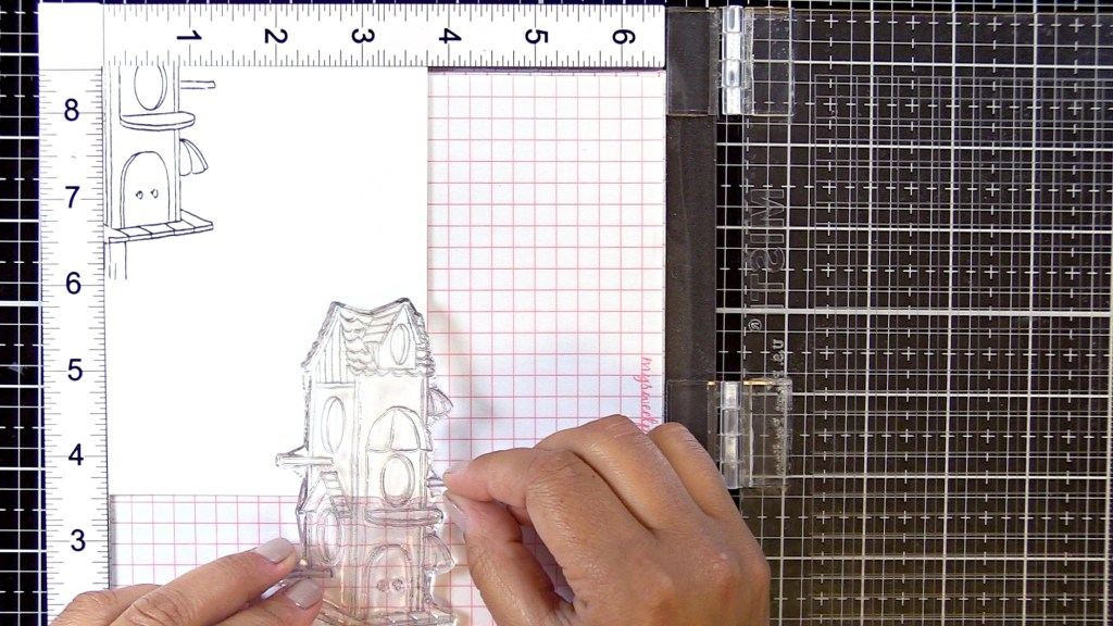 Create 2 birdhouses from 1 stamp