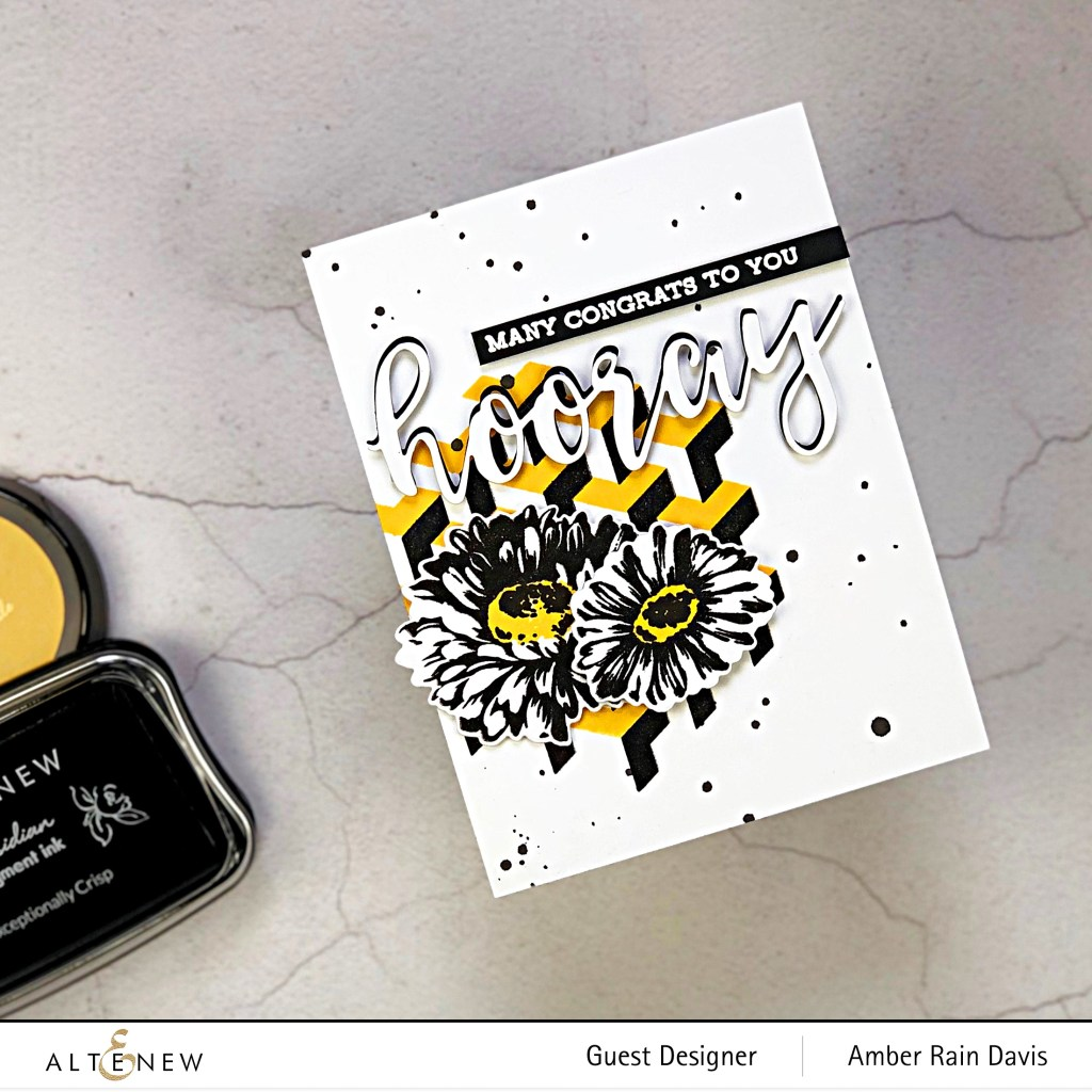 Designing with Black - Altenew June 2019 Stamp/Die/Stencil Release Blog Hop + Giveaway