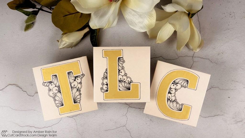 Zentangle® Monogram Wedding Cards