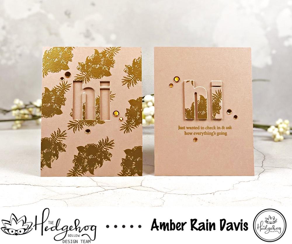 The Hedgehog Hollow Floral Typography Twofer Card Designs