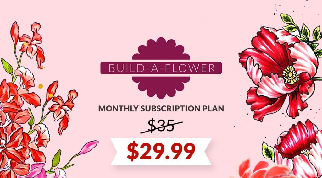 Save with Altenew Build-A-Flower Monthly Subscription