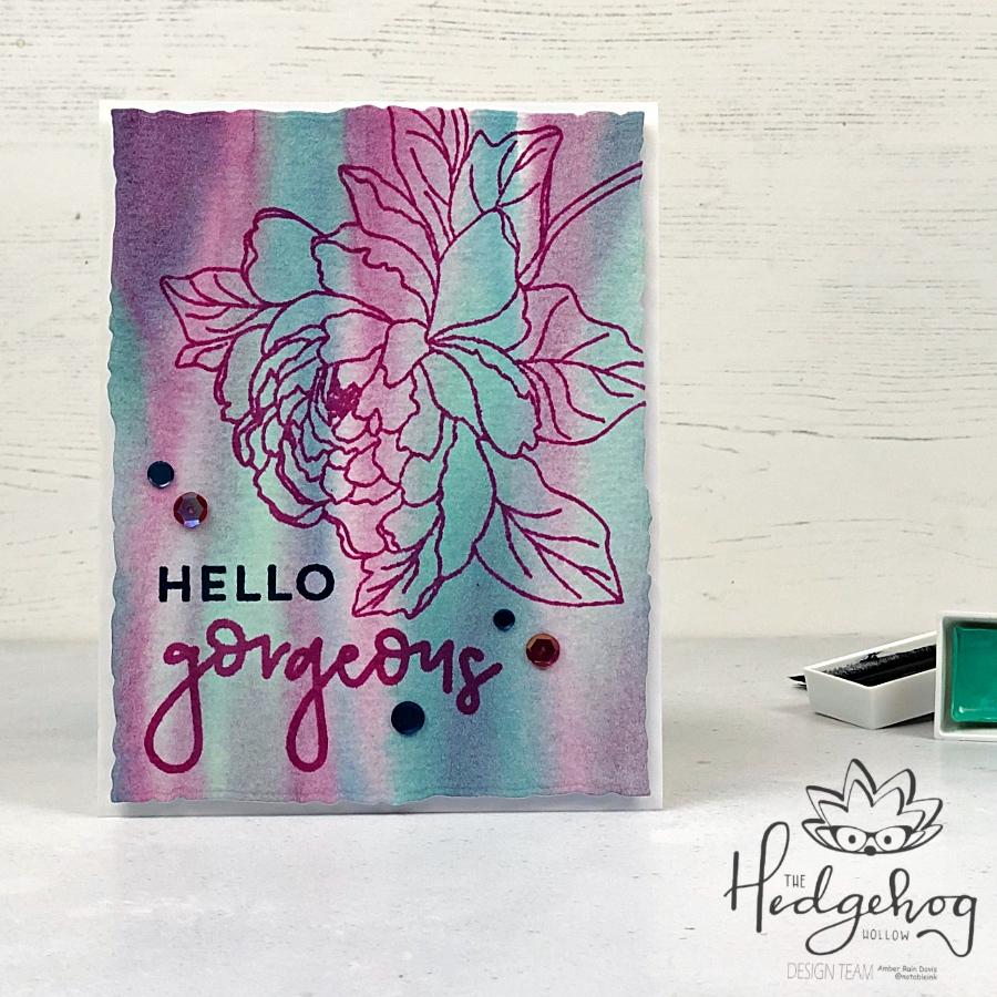 Easy Watercolor Background | The Hedgehog Hollow August 2019 Kit