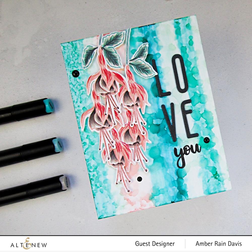 Layer Stamped & Artist Marker Fuchsia