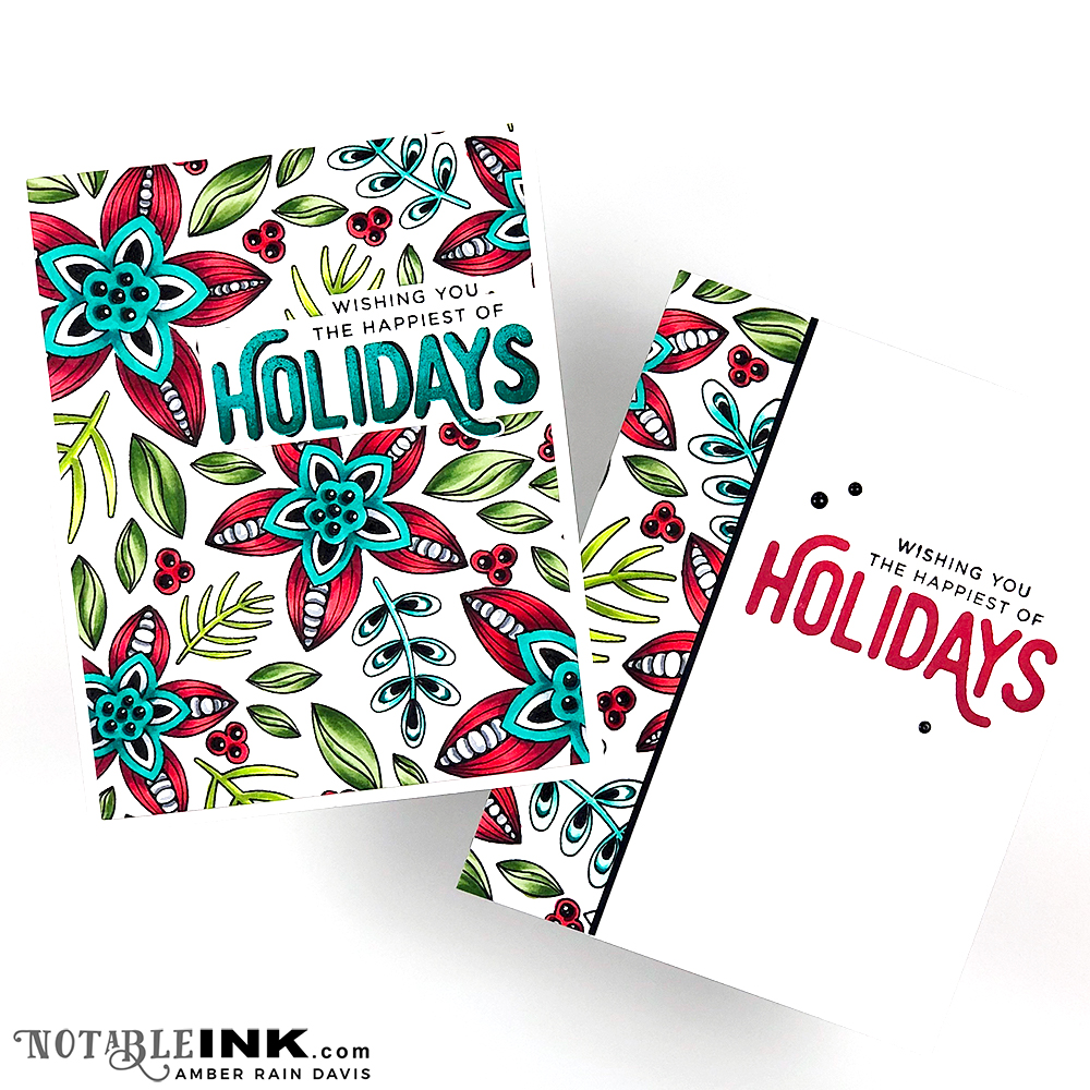 Deck the Cards with Zentangle & Copics