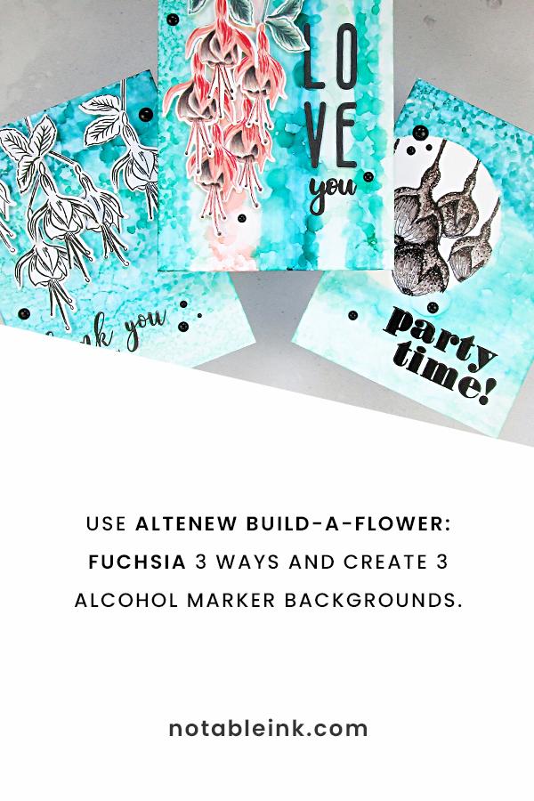PINTEREST | Altenew Build-a-Flower: Fuchsia 3 Ways