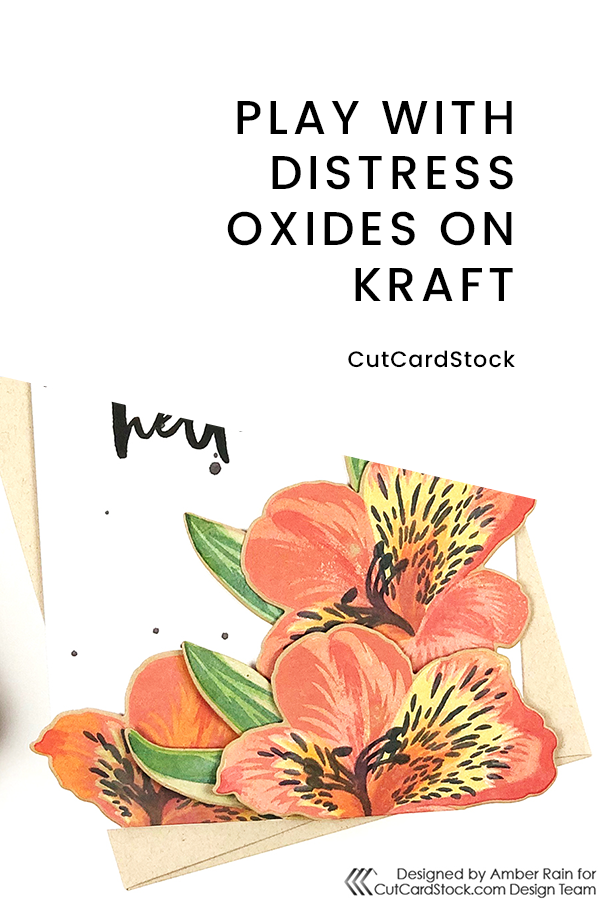 PINTEREST | Play with Distress Oxides on Kraft