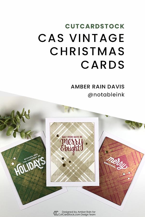 PINTEREST | CAS Vintage Christmas Cards