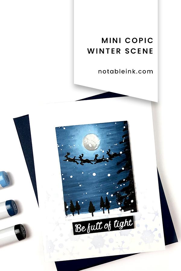 PINTEREST   Mini Copic Winter Scene