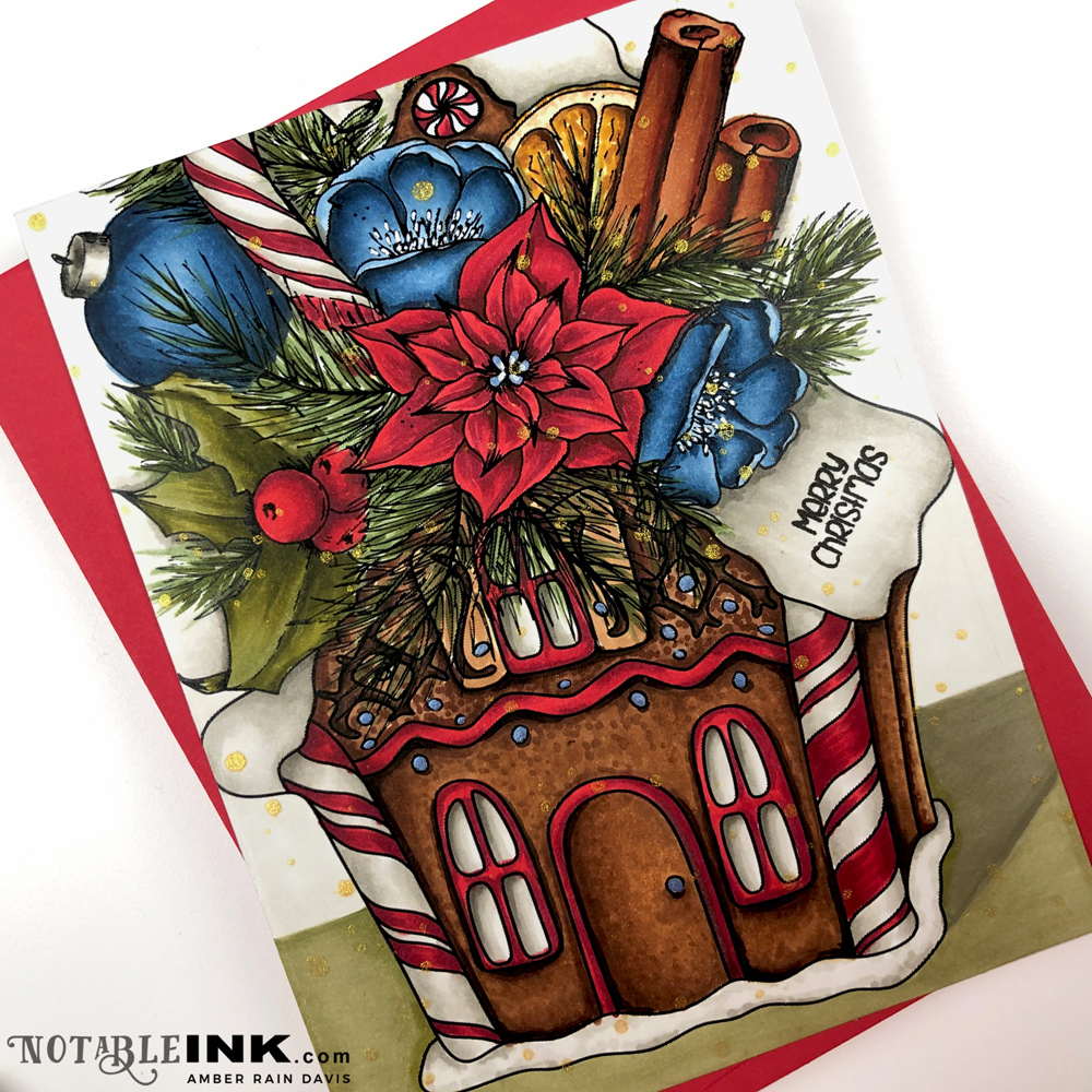 Copic Gingerbread House Bouquet