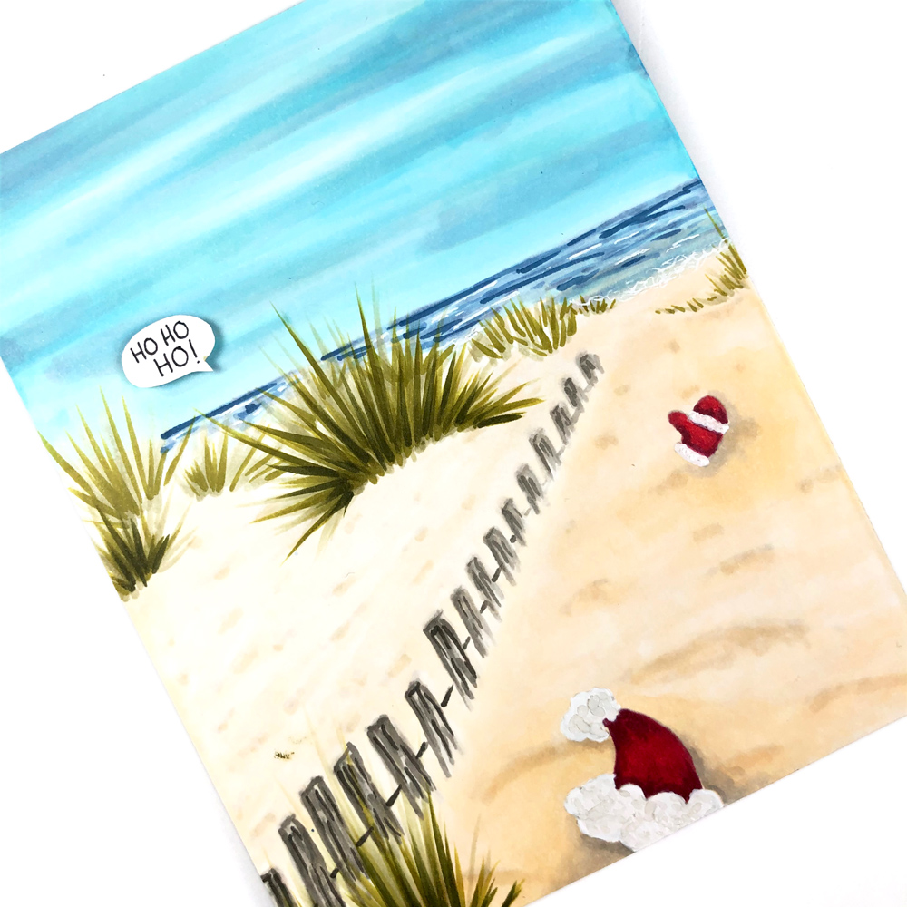 Close Up of Copic Beach Scene
