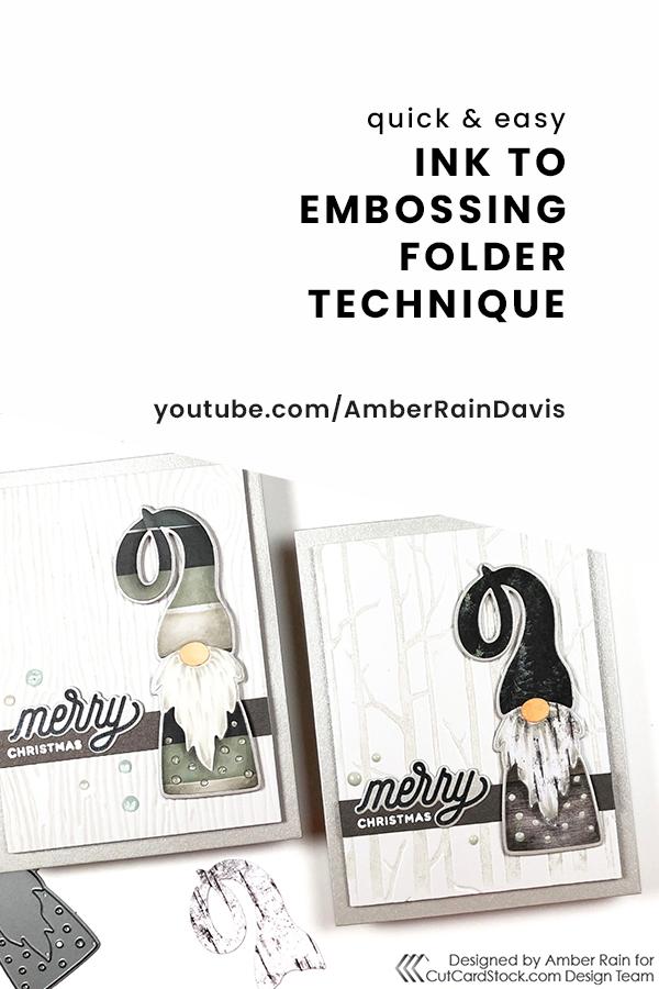 PINTEREST | Quick & Easy Ink on Embossing Folder Technique